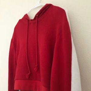 PACSUN red cropped hoodie